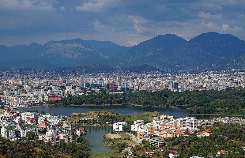 Tirana hoofdstad albanie