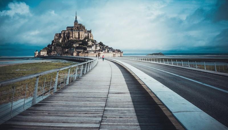 brug naar Mont Saint Michel