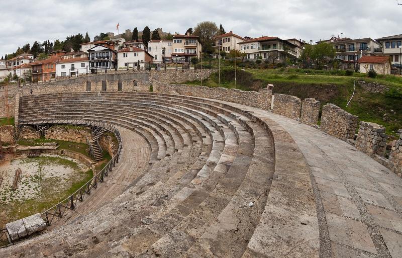 antieke theater van ohrid